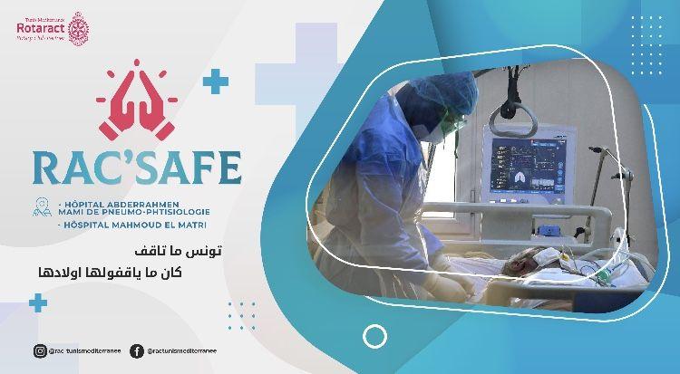 """Rac'Safe : collecte pour les hôpitaux """"Abderrahmen Mami"""" et """"Mahmoud Matri"""""""
