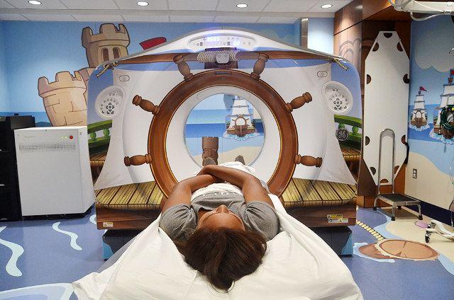Une IRM magnifiquement décorée ! Aucun enfant n'aura peur d'y pénétrer !
