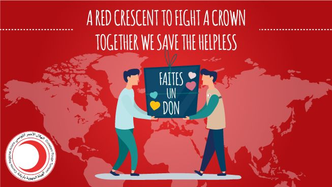 A red crescent to fight a crown: Together we save the helpless